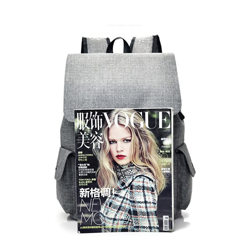 Factory wholesale Drawstring Backpack Supplier - Fancy USB Design Women Canvas Bag Student Laptop Backpack – Tongxing