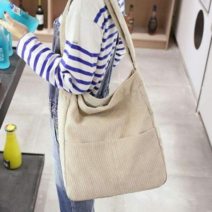 2020 Autumn Japan Korea Trend Fashion Corduroy Shoulder Bag