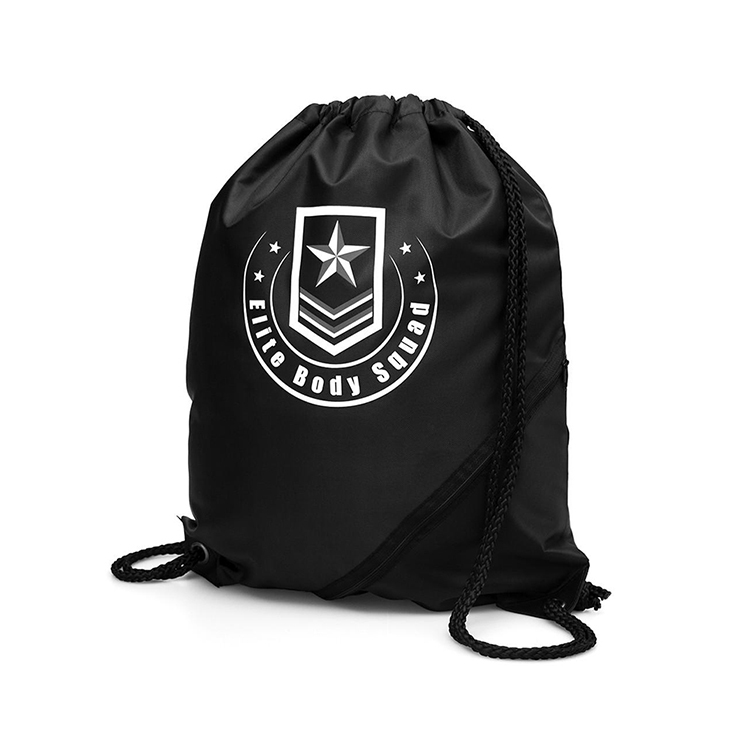 PriceList for Hanging Laundry Bag Manufacturers - Custom logo plain backpack, Eco friendly 210D drawstring bag, Cheap polyester drawstring bag backpack – Tongxing
