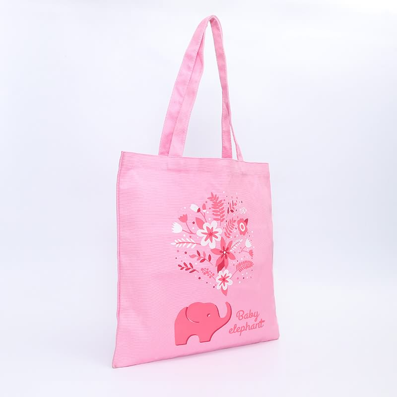 Romantic Pink Tote Bags Custom Logo Women Canvas Bag Featured Image
