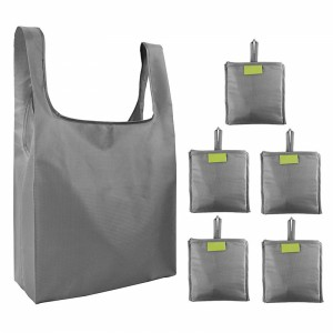 Best-Selling Printed Tote Bag Manufacturer - Folding Portable Shopping Bag Reusable Environment-friendly Bag Waterproof Receive Oxford Cloth Bag Printable LOGO – Tongxing