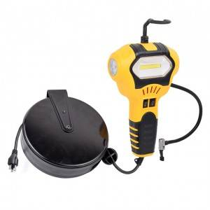 Handheld Portable Air Compressor Tire Inflator with 5W Portable COB Work Light