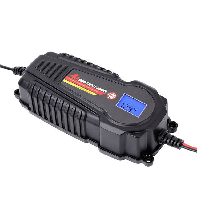 4A Smart Battery Charger/Maintainer for 12V LiFePO4 Lithium & Lead Acid Batteries