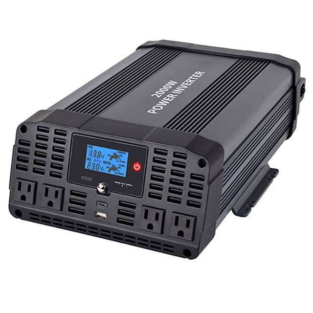 2000w Dc To Ac Power Inverter, Modified Sine Wave, 4 Outlets And Usb Ports Featured Image