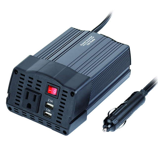 China wholesale Power Inverter 3000w - DC 12V to 110V AC Car Converter with 3.1A Dual USB Car Adapter 150W Metal Housing Smart Power Inverter with Dual USB Ports – Tonny detail pictures