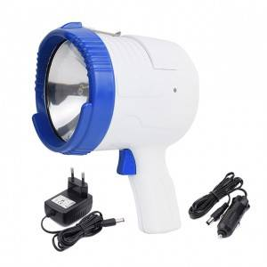 Super Bright Portable handheld Spotlight 1000 Lumen Glare-Free Bright Search Light for 12V DC Boat Marine Floodlight 55W Halogen Security Light
