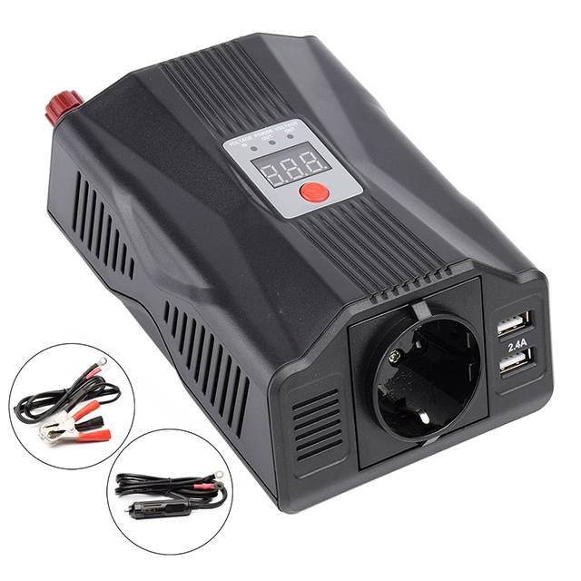 Portable dc to ac car inverter charger 200W/400W power inverter for car, marine, RV Featured Image