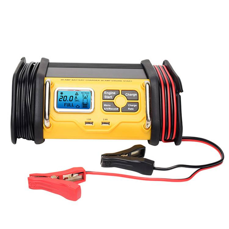12v 10a/20a/30a Smart Battery Charger With 50a/75a Engine Starter Featured Image