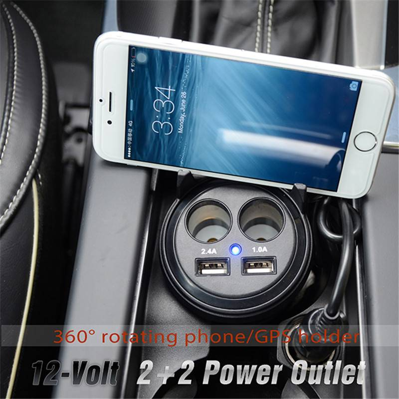 Car Usb Charger With Phone Holder