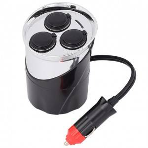 Car Charger 12v Cup Holder With Car Cigaretter Plug