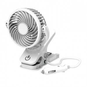 12V CLIP-ON FAN portable 12V 4 inch car clip fan mini air fan with touch switch and strong clip