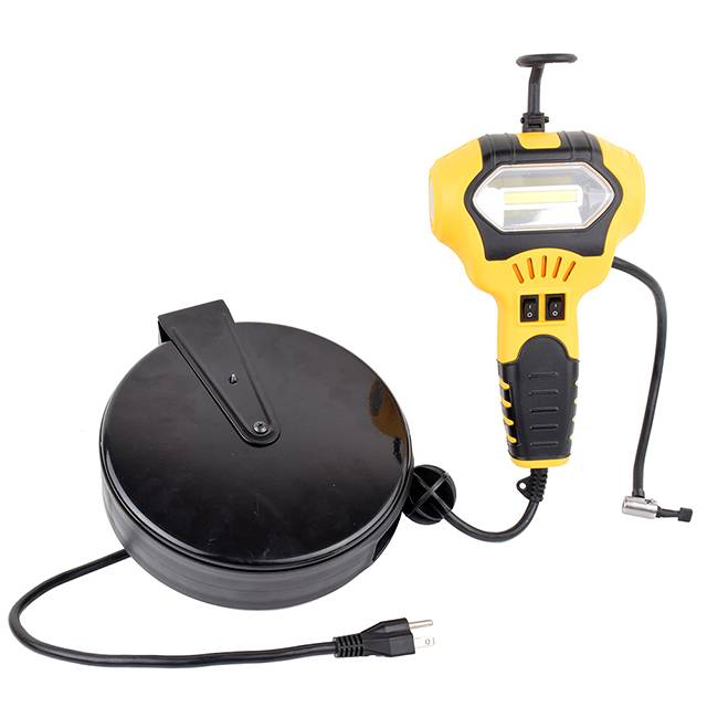 Professional China Car Cigarette Lighter Plug - Handheld Portable Air Compressor Tire Inflator with 5W Portable COB Work Light – Tonny detail pictures