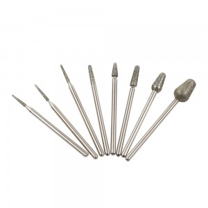 cuticle head diamond manicure electric rotary bur nail diamond drill bit