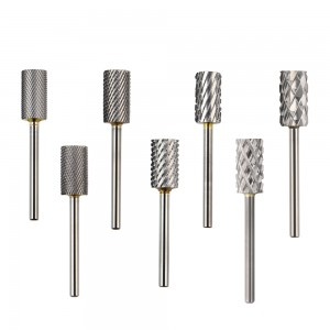 2 way cylinder carbide nail drill bit milling cutter for manicure SJ-01S