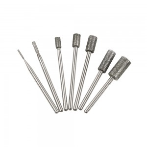 diamond burs Cylinder Shape for cleaning dead skin and fingernail nail bits