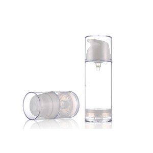 Skin Care Use Black Airless Pump Bottle for Men Skincare Packaging