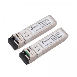 10Gb/s SFP+ 1270nm/1330nm 20km DDM DFB LC optical transceiver