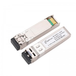 2020 Good Quality Sfp Module 10gb - 10Gb/s SFP+ CWDM 1470nm~1610nm 40km DDM DFB LC optical transceiver  – Topticom