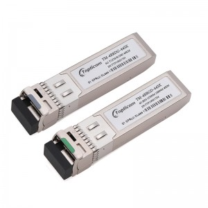6Gb/s SFP+ BIDI 1270nm/1330nm 40km DDM Simplex LC optical transceiver