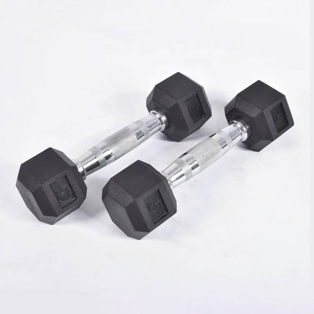 Hot New Products Free Weight Dumbbells - Gym used cast iron fitness equipment Rubber Dumbell/rubber hex dumbbell – Toptons