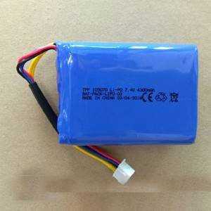 7.4V 4300mah lipoymer battery for Instruments