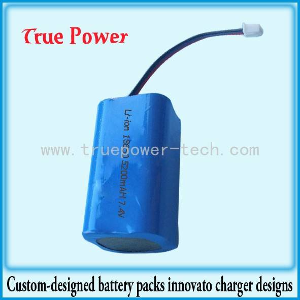 Li-ion Battery Packs 7.4V 5200mAh 18650