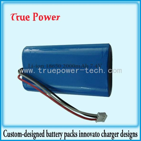 Factory Price For Lithium Thionyl Chloride Battery - Li-ion Battery Packs 7.4V 2000mAh 18650 – True Power