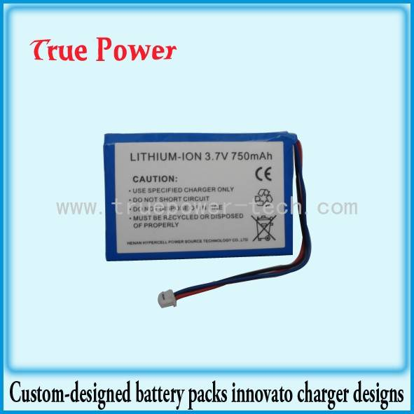 li-ion battery pack 3.7V 750mAh
