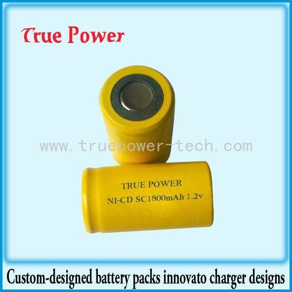 OEM/ODM China Custom Lithium Battery Packs - NI-CD SC1800mAh 1.2V – True Power
