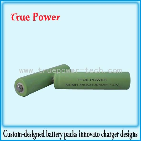 Cheapest Price Rechargeable 9v Lithium Batteries - Ni-MH 4/5A2100mAh 1.2V – True Power
