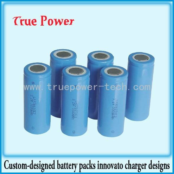 China Gold Supplier for Lithium Battery Electric Car - 26650 3.2V 3000mAh LiFePO4 battery cell – True Power