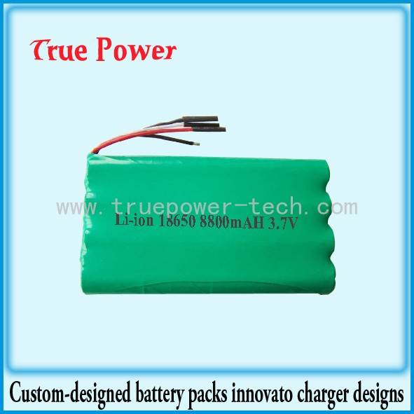 Lowest Price for Punctured Lithium Battery - 3.7V 8800mAh 18650 Li-ion Battery Packs – True Power