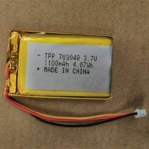 Anti-explosion li polymer battery TPP703048 3.7V 1100mah for GPS tracker