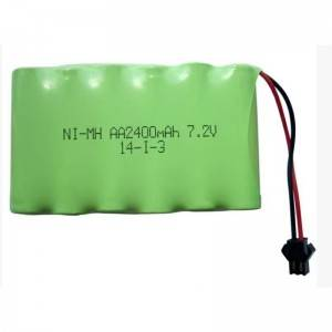 China Supplier Lithium Ion Battery 48v 100ah - Ni-mh 7.2V 2400mah rechargeable battery for vacuum cleaner – True Power