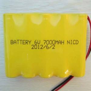 2020 China New Design 12v 36ah Lithium Battery - High capacity ni-cd F rechargeable battery 6V 7000mah for solar street lamps – True Power