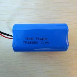 High quality 18650-2S  7.4V  2600mah battery for POS terminal