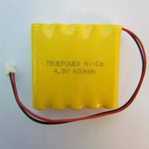 Excellent quality Liion 18650 - High quality ni-cd 4.8V 600mah rechargeable battery for toys and emergency light – True Power