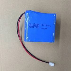 High quality 18650 battery 11.1V 10400mah