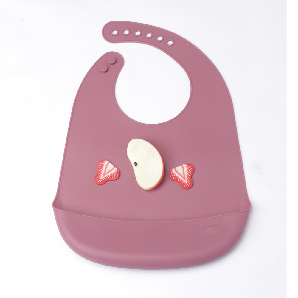 Hot Sale Soft Waterproof Silicone Baby Bib with Food Catcher Baby Silicone Bibs