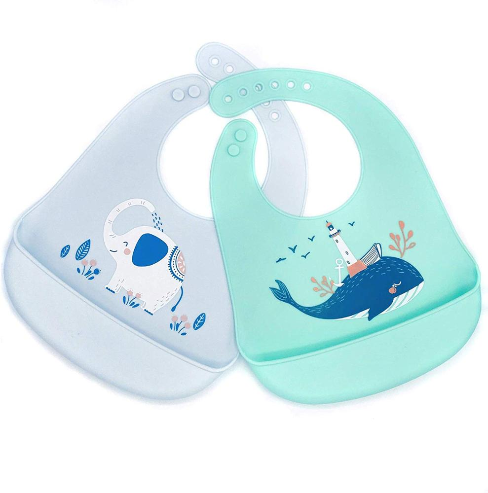 Waterproof Bibs for Babies and Toddlers with Adjustable Fit