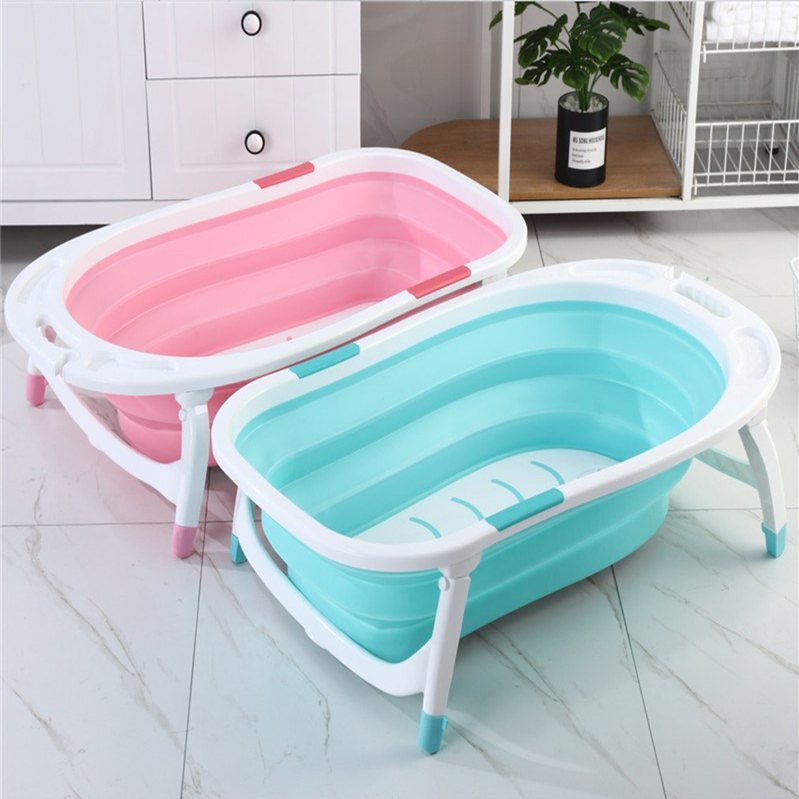 Wholesale Discount Silicone Baby Bib - Hot Sale Portable Plastic Baby Kids Standing Bath Tub Foldable for Bathroom – Transtek