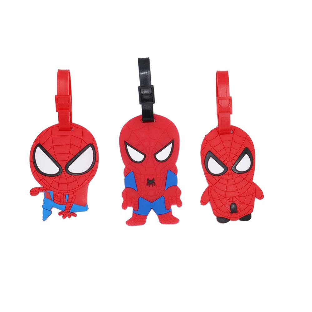 Hot Set of 3 – Super Cute Kawaii Cartoon Silicone Travel Luggage ID Tag for Bags, Red