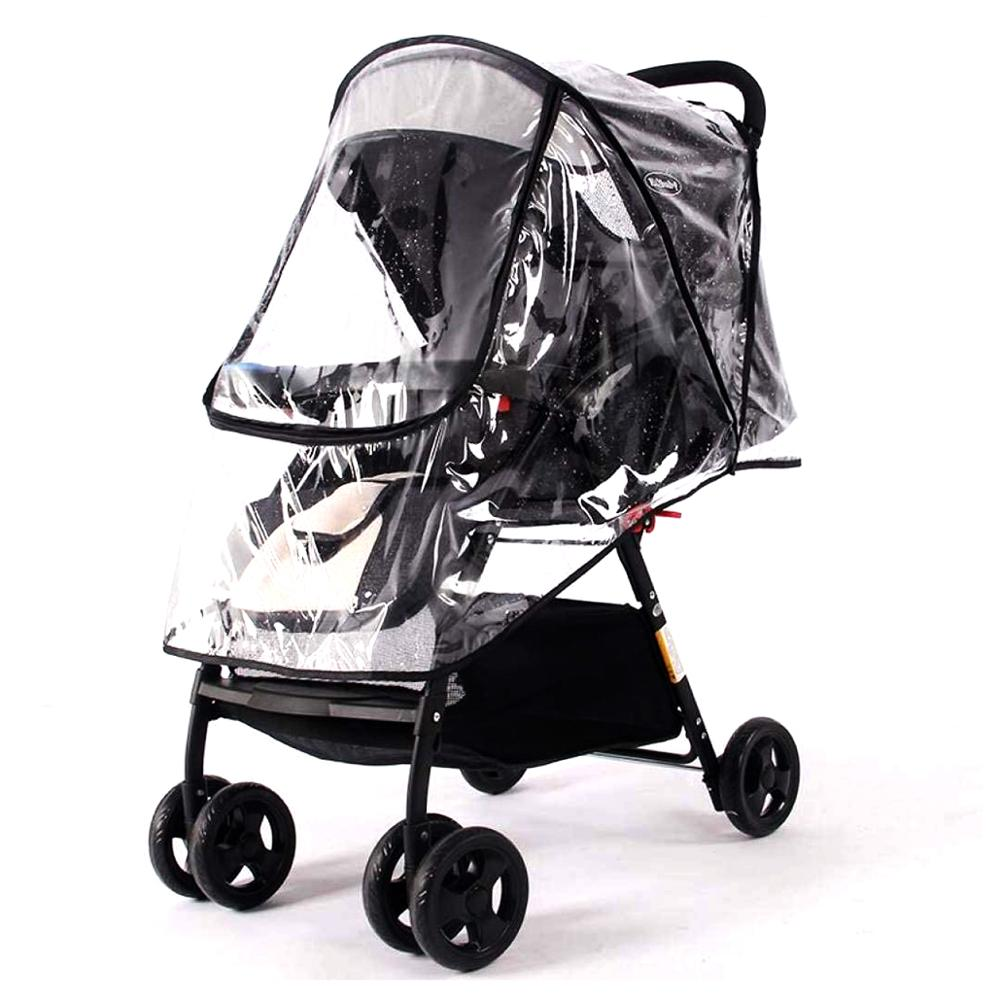 High Quality Universal Baby Stroller Rain Cover Umbrella Weather Shield, Windproof Protection