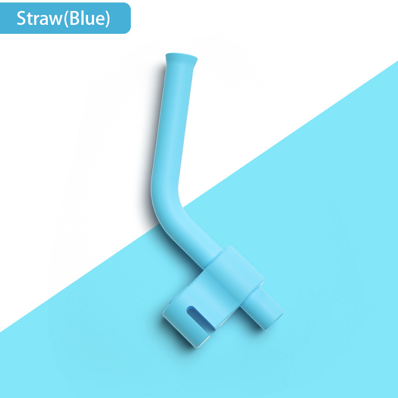 Silicone Straw Teat Replacement  Accessories Baby Feeding Straw Accessories Baby Training Soup Bowl Silicone Straw