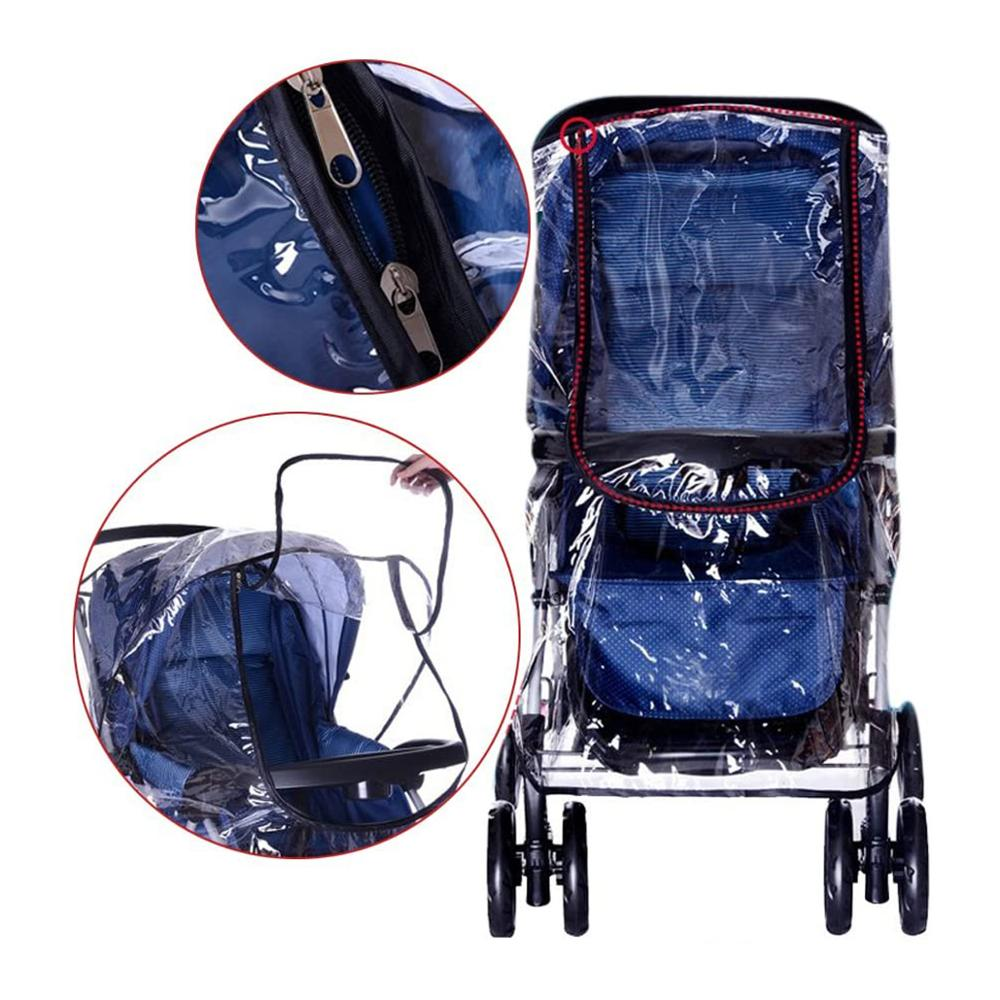 Lowest Price for Waterproof Windproof Stroller Rain Cover - Baby Universal Transparent Clear Pushchair Stroller Buggy Pram Waterproof Rain Cover Canopy Wind Weather Shield for Protector – Tr...