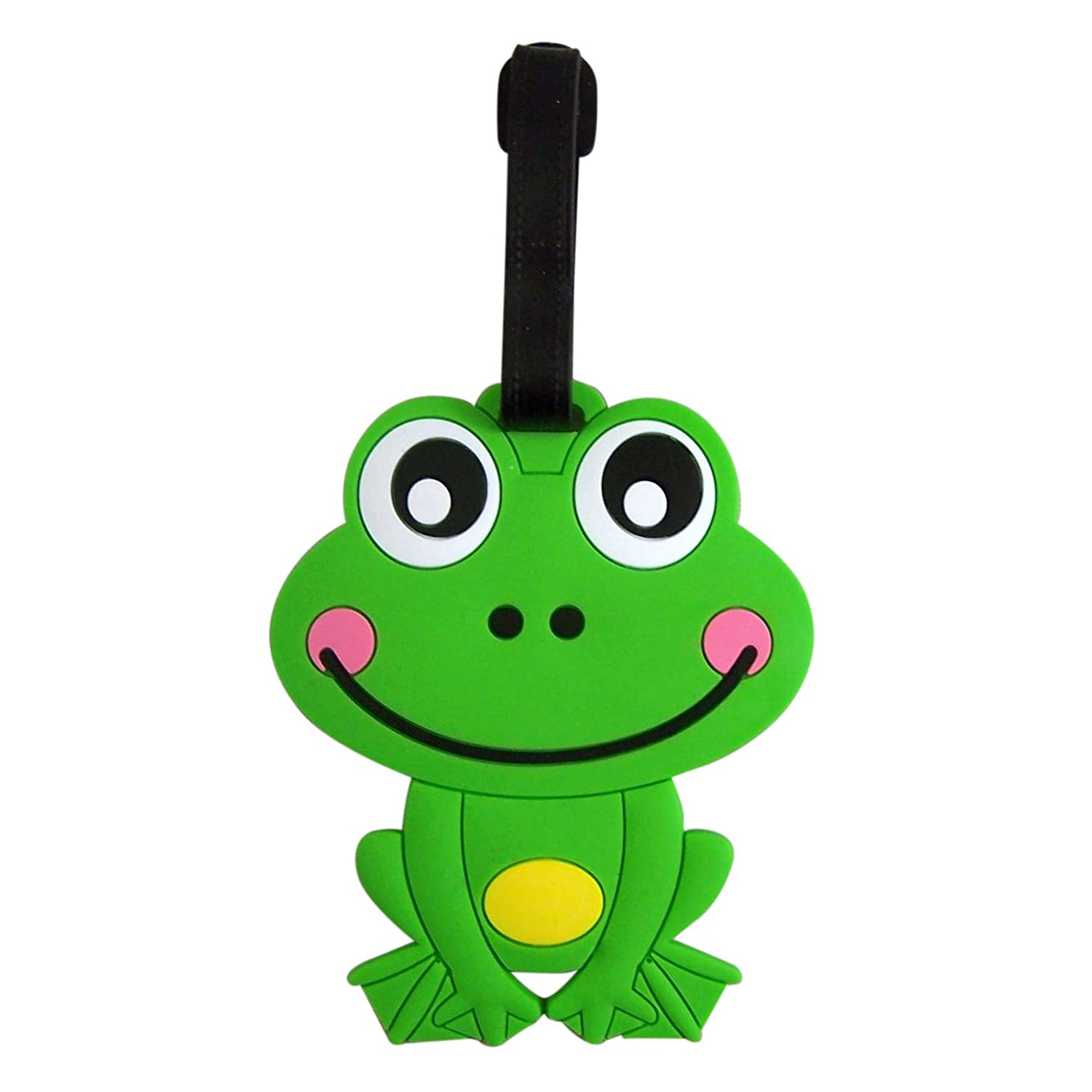 Hot Happy Frog Animal Luggage Tag, 4 Inch, Set of 3