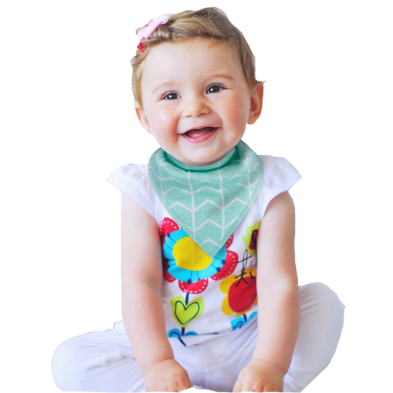 Wholesale Oem Custom Infant Double Deck Triangular Scarf Embroidered Cotton Baby Bibs
