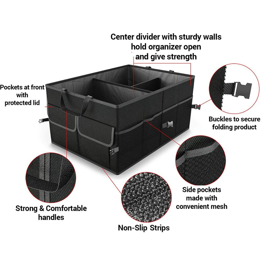 Auto Durable Collapsible Cargo Storage Collapsible Storage Bins For Car