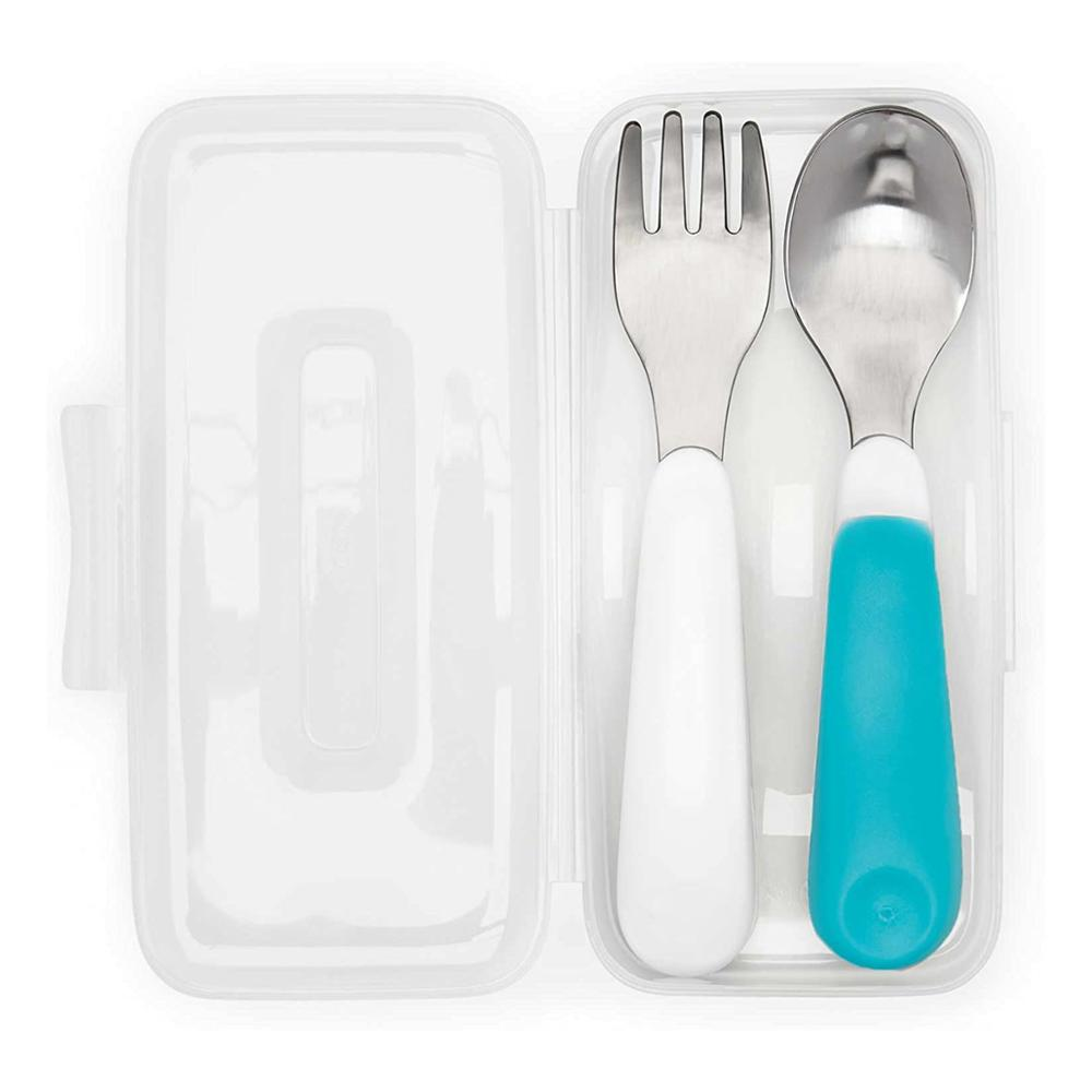 High Quality On-The-Go Feeding Spoon With Travel Case, Green