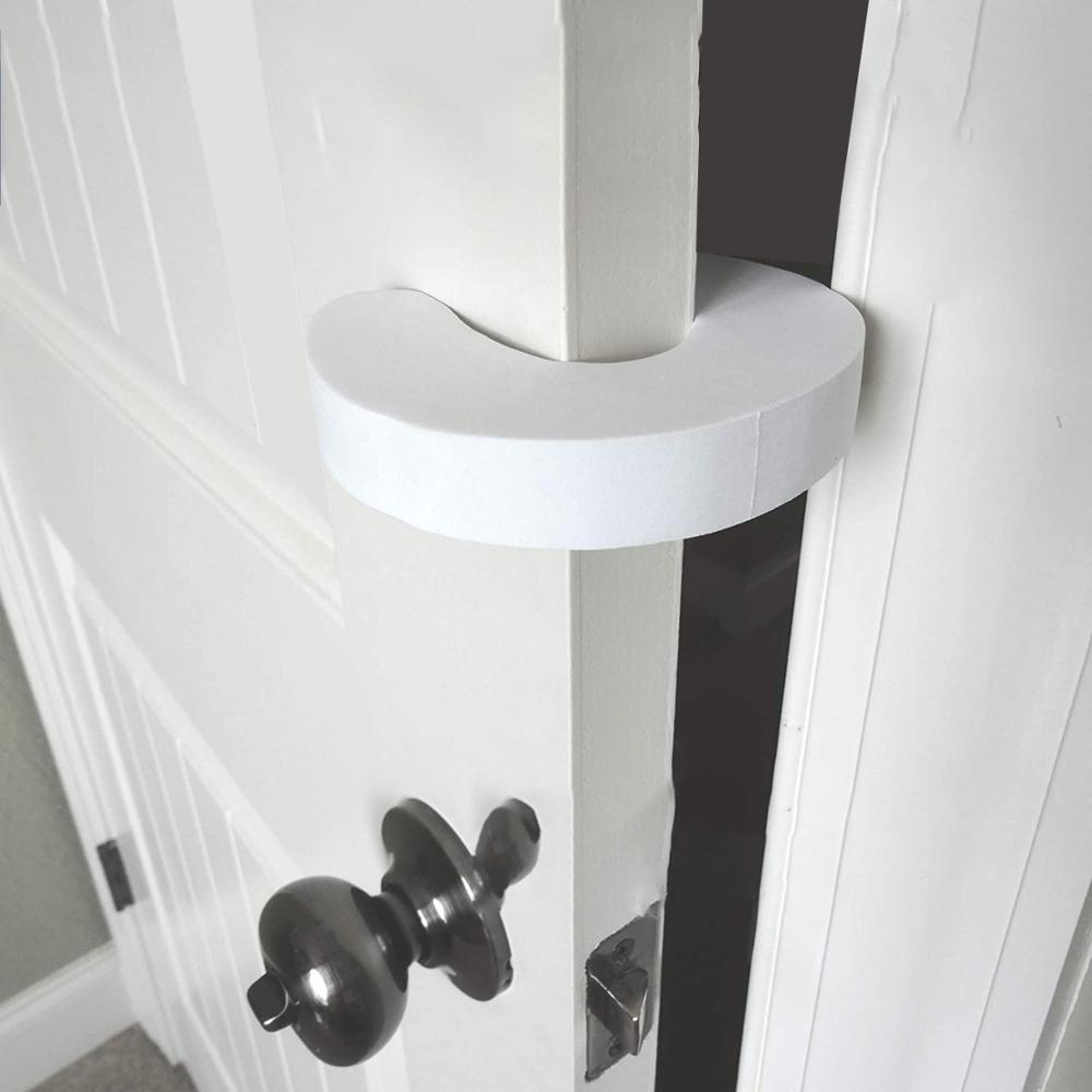 Hot Pinch Guard 4pk. Baby Proofing Doors Made Easy with Soft Yet Durable Foam Door Stopper. Prevents Finger Pinch Injuries